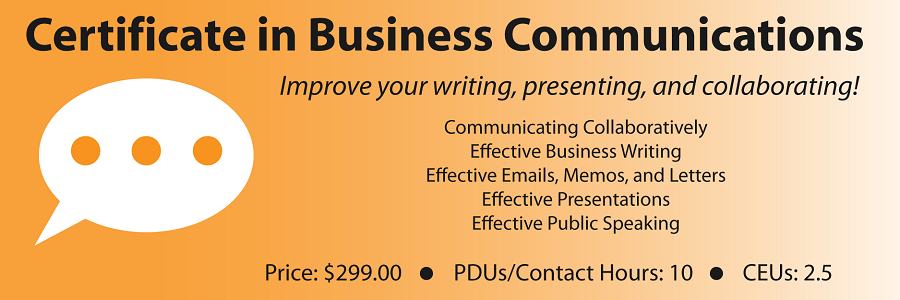 Certificate in Business Communications