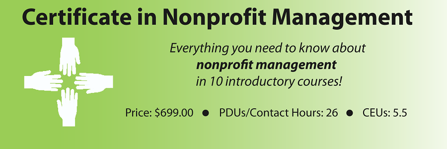 Certificate in Nonprofit Management